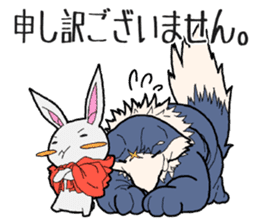 Rabbit of Little Red Riding Hood sticker #738252