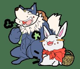 Rabbit of Little Red Riding Hood sticker #738257