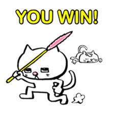 Rice cake cat sticker #739326