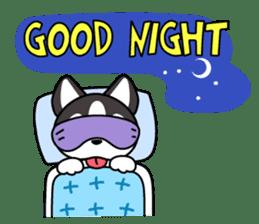 Sora, the cute siberian husky sticker #741786