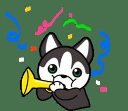 Sora, the cute siberian husky sticker #741796