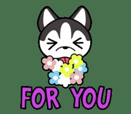 Sora, the cute siberian husky sticker #741804