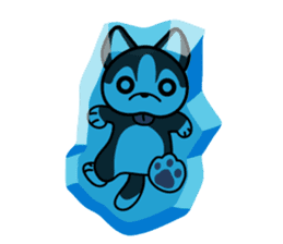 Sora, the cute siberian husky sticker #741812