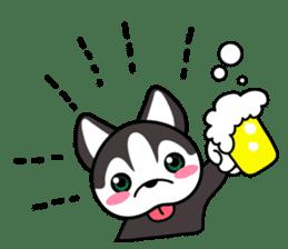 Sora, the cute siberian husky sticker #741822