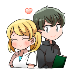 happy couple sticker