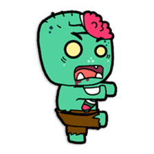 Nong Mik - the cute zombie - and friends sticker #744663