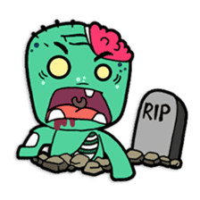 Nong Mik - the cute zombie - and friends sticker #744664