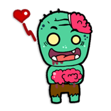 Nong Mik - the cute zombie - and friends sticker #744666