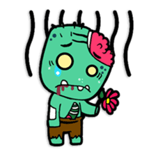 Nong Mik - the cute zombie - and friends sticker #744668