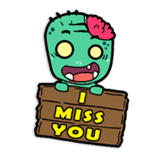 Nong Mik - the cute zombie - and friends sticker #744673