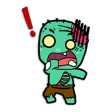 Nong Mik - the cute zombie - and friends sticker #744674