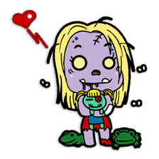 Nong Mik - the cute zombie - and friends sticker #744677