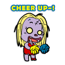Nong Mik - the cute zombie - and friends sticker #744680