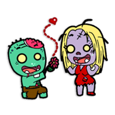 Nong Mik - the cute zombie - and friends sticker #744688