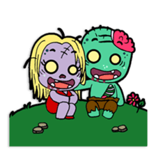 Nong Mik - the cute zombie - and friends sticker #744693