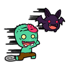 Nong Mik - the cute zombie - and friends sticker #744695