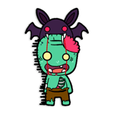 Nong Mik - the cute zombie - and friends sticker #744696
