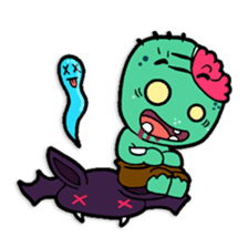 Nong Mik - the cute zombie - and friends sticker #744698