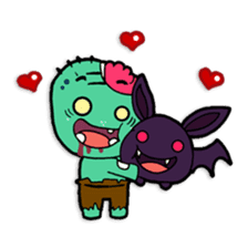 Nong Mik - the cute zombie - and friends sticker #744699