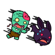 Nong Mik - the cute zombie - and friends sticker #744700