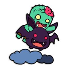 Nong Mik - the cute zombie - and friends sticker #744702