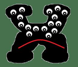 ABC monsters feel a little sick. KAWAII! sticker #745336