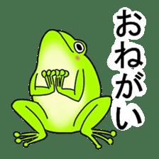Freewheeling frog sticker #746185