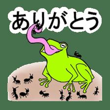 Freewheeling frog sticker #746192