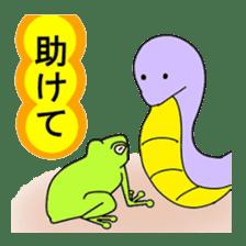 Freewheeling frog sticker #746193