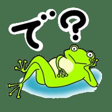 Freewheeling frog sticker #746207