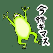 Freewheeling frog sticker #746216