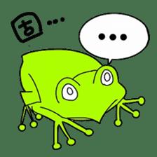 Freewheeling frog sticker #746218