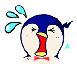 The loose round penguin sticker #746798