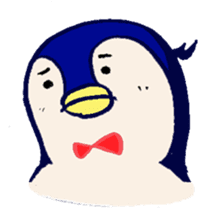 The loose round penguin sticker #746804