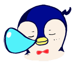 The loose round penguin sticker #746806