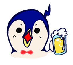 The loose round penguin sticker #746817