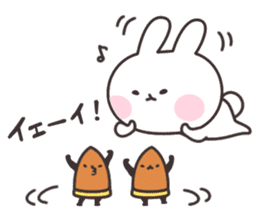 Rabbit and bamboo shoots sticker #747125