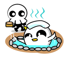 Ghost and Skull sticker #747991