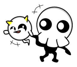 Ghost and Skull sticker #748005