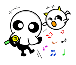 Ghost and Skull sticker #748012