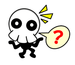Ghost and Skull sticker #748016