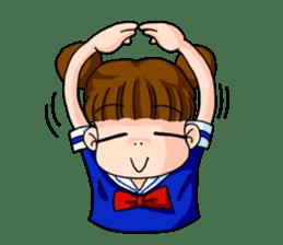 Girl student of the dumpling head sticker #748038