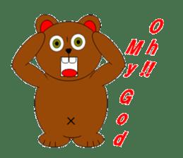 Jiro brown bear sticker #751070