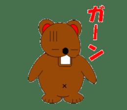Jiro brown bear sticker #751077