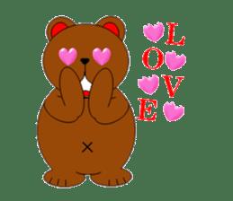 Jiro brown bear sticker #751078