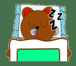 Jiro brown bear sticker #751082