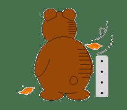 Jiro brown bear sticker #751084