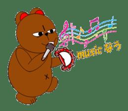Jiro brown bear sticker #751098