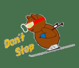 Jiro brown bear sticker #751101