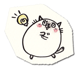 Perfectly round cat sticker #751148